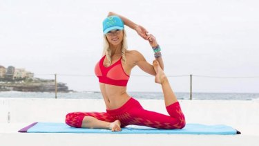 Kate Kendall hosted the Roxy #RUNSUPYOGA launch at Icebergs in Bondi.