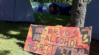 The Musgrave Park tent embassy was at the centre of controversy this year when police clashed with occupants.