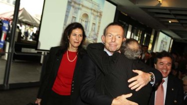Making up lost ground … Tony Abbott at the Italian National Day celebrations yesterday.