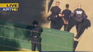 A student is taken into custody at Gardena High School.