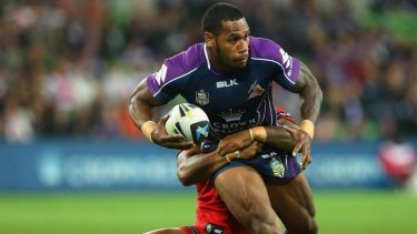 Sisa Waqa, pictured here playing for the Melbourne Storm, is set to join the Raiders.