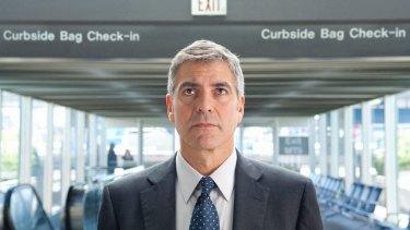 "George Clooney portrays businessman Ryan Bingham in ""Up in the Air."""