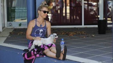 Melissa Young and her puppy Maisie were happy to have escaped Waroona.