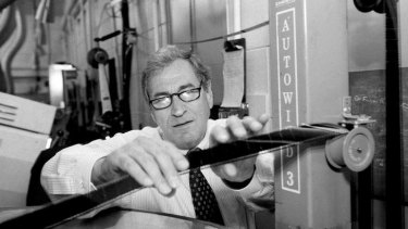 High-fidelity hero ... Ray Dolby in a projection booth at Radio City Music Hall in New York in 1994.