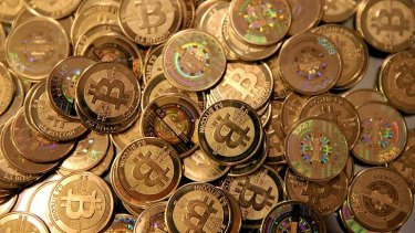 Cashing in: Bitcoins.
