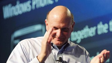Microsoft CEO Steve Ballmer at the company's annual Professional Developer?s Conference Thursday, Oct. 28, 2010, in Redmond, Wash.