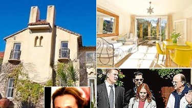 Bullish price... (Clockwise) The house's exterior and interior, Adelicia Dawson-Damer at the property and (inset) Toni Collette.