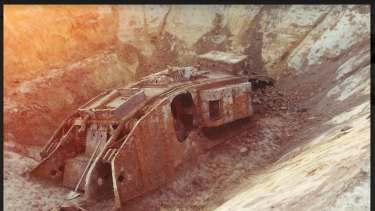 Deborah - the only tank exhumed from WWI battlefields