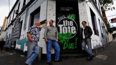 Saviours of the Tote: Jon Perring, Sam Crupi and Andrew Portokallis.