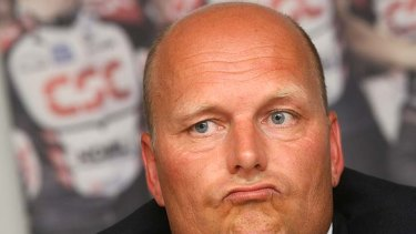 Bjarne Riis, winner of the 1996 Tour, tells the media on May 25, 2007 in Copenhagen that he took performance-enhancing drugs.