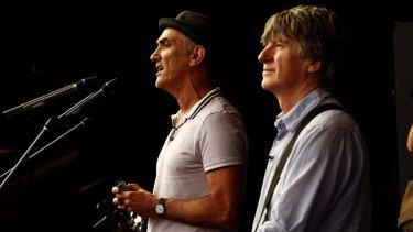 Legends ... Paul Kelly and Neil Finn.