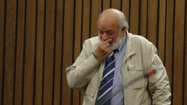 Barry Steenkamp, father of Reeva Steenkamp, gives evidence on Tuesday.