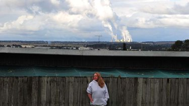 Morwell resident Catherine is upset about the proposed HRL coal-fired power station near her home.