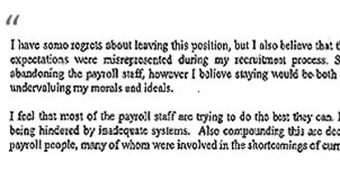 An excerpt from Alan McGraw's resignation letter.