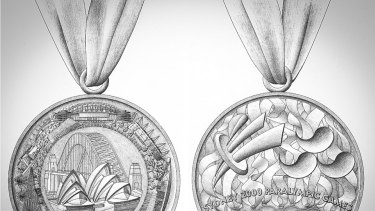 Stuart Devlin's Sydney 2000 Paralympics design drawings.