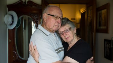 Attack victims: Maurice Smith and Nola Turnbull in their Kempsey home.