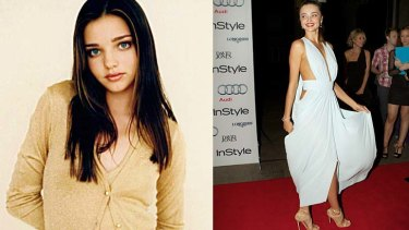 And the winner was ... Miranda Kerr, pictured in 1997, left ... and more recently.