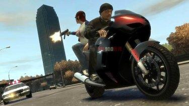 Crim sim ... a scene from Grand Theft Auto.