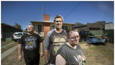 L-R Peter Arthur, Ronald Lyons and Christine Lyons from Kangaroo Flats.