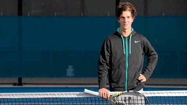 Upset: Up and coming Australian tennis star Thanasi Kokkinakis.