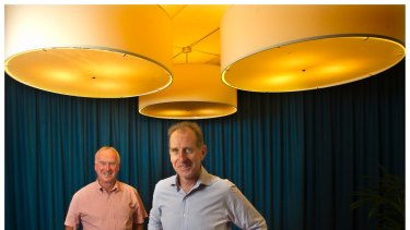 Michael and Andrew Buxton at their St Kilda Road offices. The brothers are worth an estimated $579 million.