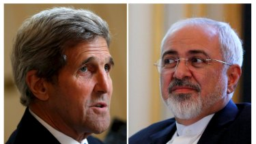 US Secretary of State John Kerry, left, and Iranian Foreign Minister Mohammad Javad Zarif.