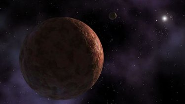 An artist's impression of Sedna, discovered in 2003.