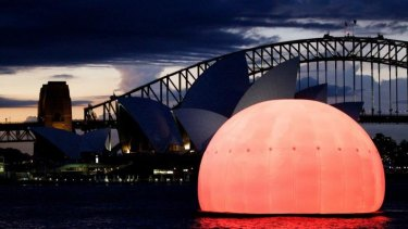 """""""To see that massive balloon rise up as the sun was just spectacular,"""" Draxl says of Madama Butterfly at the Harbour last year."""