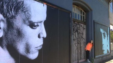 Lou Reed mural at Bakehouse Studio.