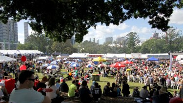 BRISBANE, AUSTRALIA - MAY 23:  Thousands of people enjoying the food and festivities at the 2015 Paniyiri Festival at Musgrave Park on Saturday May 23, 2015 in Brisbane, Australia.  (Photo by Michelle Smith/Fairfax Media)