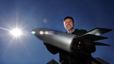 University of Queensland chair for hypersonics Russell Boyce, with a prototype scramjet.