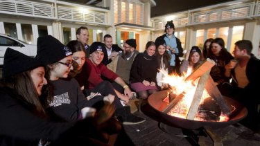 Roughing it ... high school students spend a night seeing what it is like to be homeless.