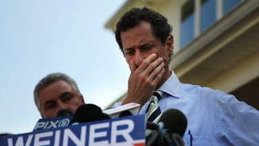 Anthony Weiner pauses to reflect on the campaign trail.