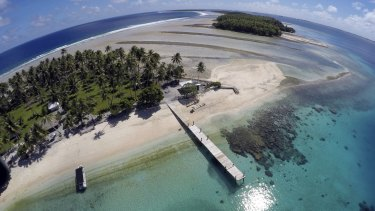 Majuro atoll, the Marshall Islands - one of the countries most affected by rising sea levels.