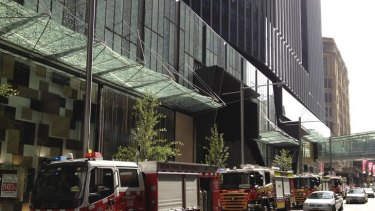 A small fire broke out at Westfield in Sydney city centre.