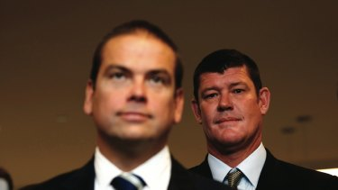 Millions lost: Lachlan Murdoch and James Packer.