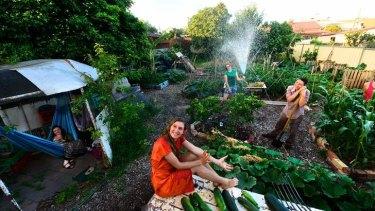 Garden of Eden: The Preston residents are happy and settled. From left: Caroline Arrowsmith, Elintari Webb, Ange Hansen and Theo Kitchener.
