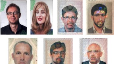 The alleged agents and their assumed identities. Left to right, top to bottom: Evan Dennings, Gail Folliard, James Leonard Clarke, Jonathan Louis Graham, Michael Bodenheimer, Paul John Keeley, Michael Lawrence Barney, Peter Elvinger, Kevin Daveron, Melvyn Adam Mildiner and Stephen Daniel Hodes.