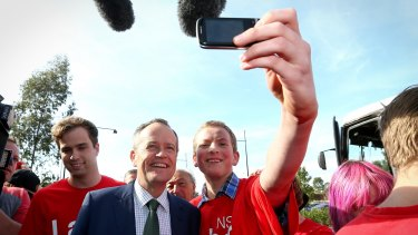 Opposition Leader Bill Shorten on the campaign trail on Saturday