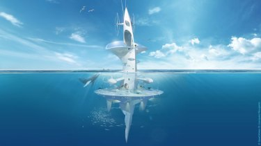 SeaOrbiter: An underwater home, laboratory and observation hub.