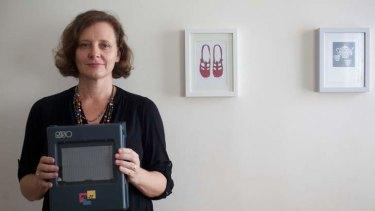 Fine line: Artist Susie Stubbs with her Print Gocco.