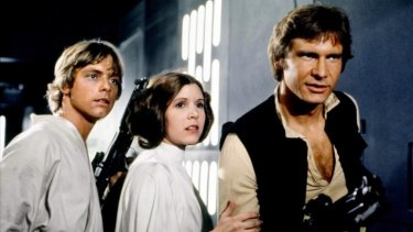 The original and still the best: Mark Hamill, Carrie Fisher and Harrison Ford in <i>Star Wars</i>.
