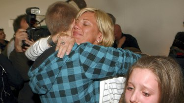 Annice Smoel is welcomed home by family after she arrived home  from Thailand.