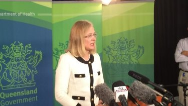 Queensland Chief Health Officer Jeanette Young speaks to the media about the North Queensland Ebola scare.