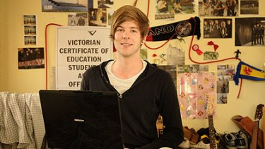 Keen linguist: Wantirna College student Corbin Vetter, who is sitting his VCE exam in Spanish today.