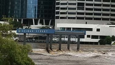 Fast flowing water in Brisbane is still dangerous, the premier warned today.