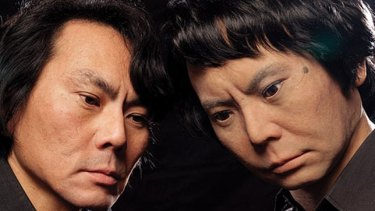 Hiroshi Ishiguro, a roboticist at Osaka University, in Japan with his android version of a middle-aged family man ... himself!