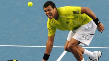 French force ... runner-up in the 2008 Australian Open final against Novak Djokovic, Jo-Wilfried Tsonga is ready for payback against the Serb today.