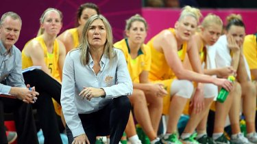 Opals coach Carrie Graf.
