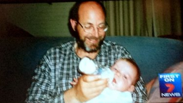 Greg Anderson with his son Luke Batty as a baby.